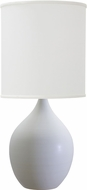 House of Troy GS201-WM Scatchard White Matte Side Table Lamp