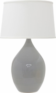 House of Troy GS202-GG Scatchard Gray Gloss Side Table Lamp