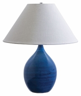 House of Troy GS300-BG Scatchard 22 Inch Tall Blue Gloss Finish Stoneware Table Lamp