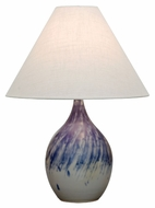 House of Troy GS300-DG Scatchard Decorated Gray Finish 17  Wide Table Lamp Lighting