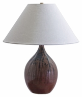 House of Troy GS300-DR Scatchard 22 Inch Tall Transitional Style Decorated Red Table Light