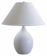 House of Troy GS300-WM Scatchard White Matte Finish Round Body 22 Inch Tall Lighting Table Lamp