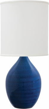 House of Troy GS301-BG Scatchard Blue Gloss Lighting Table Lamp