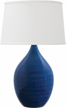 House of Troy GS302-BG Scatchard Blue Gloss Side Table Lamp