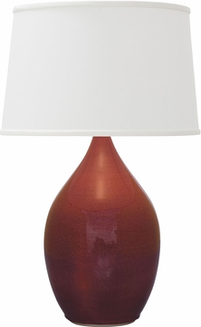 House of Troy GS302-CR Scatchard Crimson Red Table Lighting