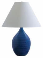 House of Troy GS400-BG Scatchard Blue Gloss 28 Inch Tall Large Table Lamp