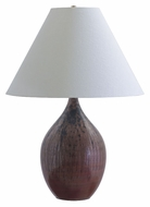 House of Troy GS400-DR Scatchard 28 Inch Tall Large Decorated Red Finish Bed Lamp