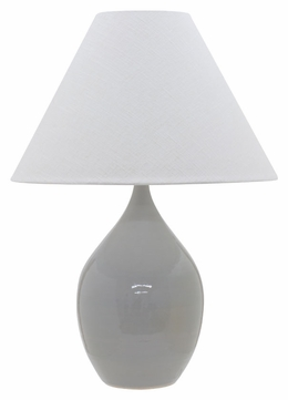 House of Troy GS400-GG Scatchard Gray Gloss Finish 20 Wide Table Lighting
