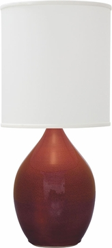 House of Troy GS401-CR Scatchard Crimson Red Table Top Lamp