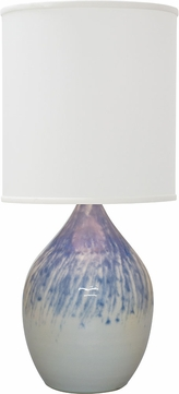 House of Troy GS401-DG Scatchard Decorated Gray Side Table Lamp