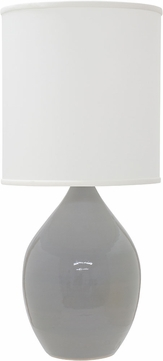 House of Troy GS401-GG Scatchard Gray Gloss Table Light