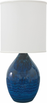 House of Troy GS401-MID Scatchard Midnight Blue Table Lighting