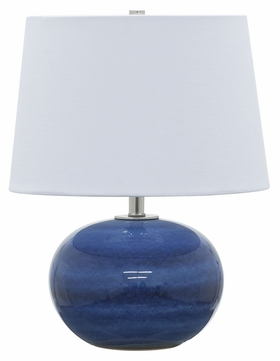 House of Troy GS600-BG Scatchard Blue Gloss Finish 17  Tall Lighting Table Lamp