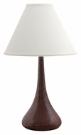House of Troy GS801-IR Scatchard Stoneware Iron Red Finish 26 Inch Tall Narrow Body Table Lamp Lighting