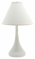 House of Troy GS801-WM Scatchard Stoneware White Matte Finish 26 Inch Tall Bed Lamp