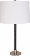 House of Troy H553-SN Hardwick Satin Nickel with Black Leather Side Table Lamp