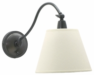 House of Troy HP725 Hyde Park Swing Arm Wall Lamp with Off-White Linen Shade