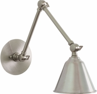 House of Troy LLED30-SN Library Satin Nickel LED Wall Swing Arm Lighting