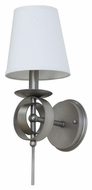 House of Troy LS202-SP Lake Shore Satin Pewter Finish 6 Wide Lighting Wall Sconce