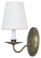 House of Troy LS217-AB Lake Shore Antique Brass Finish 5 Wide Wall Lighting Fixture