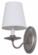 House of Troy LS217-SP Lake Shore Satin Pewter Finish 5 Wide Wall Sconce Light