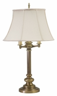 House of Troy N650-AB Newport Traditional Antique Brass Finish 30 Inch Tall Bed Lamp
