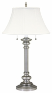 House of Troy N651PTR Newport Traditional Two Light Table Lamp in Pewter