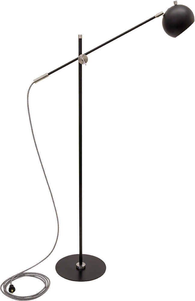 House of troy or700 blksn orwell black with satin nickel accents led house of troy or700 blksn orwell black with satin nickel accents led floor lamp lighting loading zoom aloadofball Image collections