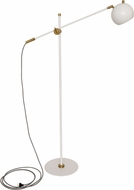 House of Troy OR700-WTWB Orwell White with Weathered Brass Accents LED Lighting Floor Lamp