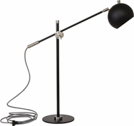 House of Troy OR750-BLKSN Orwell Black with Satin Nickel Accents LED Table Top Lamp