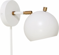 House of Troy OR775-WTWB Orwell White with Weathered Brass Accents LED Sconce Lighting