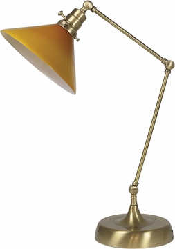 House of Troy OT650-AB-AM Otis Antique Brass Table Top Lamp
