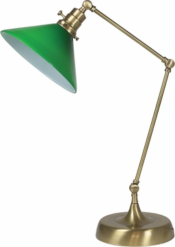House of Troy OT650-AB-GR Otis Antique Brass Side Table Lamp