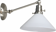 House of Troy OT675-SN-WT Otis Satin Nickel Swing Arm Wall Light Fixture