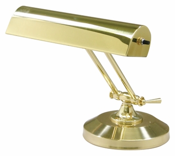 House of Troy P10-150 Small Polished Brass Finish 8 Inch Tall Piano/Desk Lamp Lighting