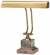 House of Troy P14280WB P14-280-WB 14 inch Square Base Brass and Marble Piano Desk Lamp