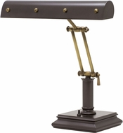 House of Troy PB14-201-MB-AB Piano/Desk Mahogany Bronze with Antique Brass Accents Ball Motif Piano Light