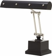 House of Troy PB14-202-BLK-PN Piano/Desk Black with Polished Nickel Accents Ball Motif Piano Lamp
