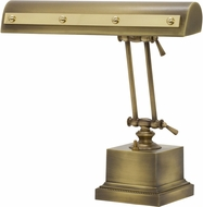 House of Troy PR14-202-AB-PB Piano/Desk Antique Brass with Polished Brass Accents Rivet Motif Piano Lamp