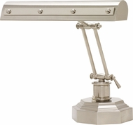 House of Troy PR14-203-SN-PN Piano/Desk Satin Nickel with Polished Nickel Accents Rivet Motif Piano Lamp
