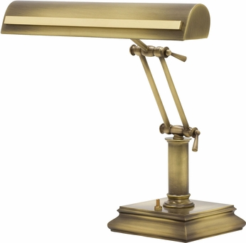House of Troy PS14-201-AB-PB Piano/Desk Antique Brass with Polished Brass Accents Strap Motif Piano Light