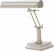House of Troy PS14-201-SN-PN Piano/Desk Satin Nickel with Polished Nickel Accents Strap Motif Piano Lamp