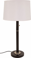 House of Troy RU750-BLK Rupert Granite with Satin Nickel Accents Table Lamp