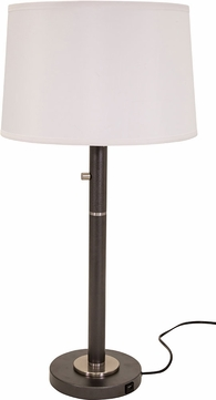House of Troy RU750-GT Rupert Black with Satin Nickel Accents Table Lighting