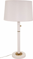 House of Troy RU750-WT Rupert White with Weathered Brass Accents Lighting Table Lamp