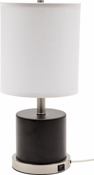 House of Troy RU752-BLK Rupert Black with Satin Nickel Accents Side Table Lamp