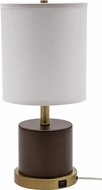 House of Troy RU752-CHB Rupert Chestnut Bronze with Weathered Brass Accents Table Lamp