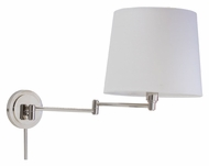 House of Troy TH725-PN Townhouse Polished Nickel Finish 15 Inch Tall Transitional Swing Arm Wall Light