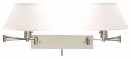 House of Troy WS14252 Double Swing Arm Lamp in Satin Nickel