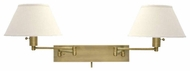 House of Troy WS14271 Double Swing Arm Lamp in Antique Brass